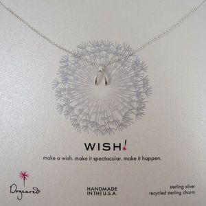 "Dogeared ""Wish"" Wishbone Sterling Silver Necklace"